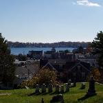 View from Marblehead old cemetry over the ocean