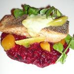 Loch Duart Salmon with Beet Risotto