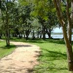 Path along lakeside grounds
