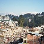 Kanchenjunga and Darjeeling view from hotel room