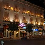 Lit up...the Hotel Plaza Cavana