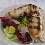 lunch - chicken sandwich homemade bread