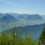 Summer view from Mt. Rigi near Lucerne