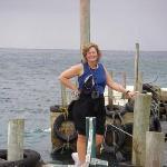 Sue on dock.