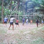 Volleyball game with staff and guests, we were spectators!