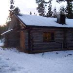 Typical log cabin