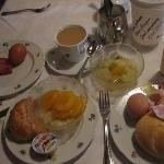 Our breakfast in the restaurant downstairs