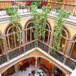 three floors of the hotel courtyard