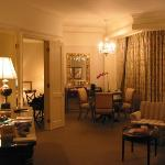 An interior shot of the suite
