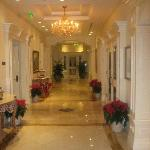 hallway through lobby