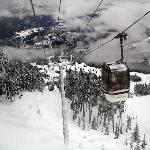 Whistler Gondola rising to an elevation of 6,000 ft.