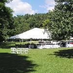 The tent we used for drinks, cake, and dancing