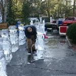 Ice Carving Santa's Reindeer