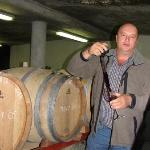 Tour of the wine cellar at Majors Hill