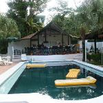 swimming pool and restaurant