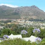 view of houtbay from pool area