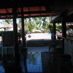 View of pool from the bar