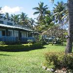 Front garden of resort