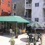 the beautiful patio