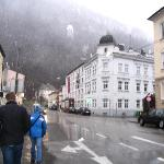 goint to the hotel in the snowing