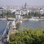 View of Chain Bridge from Buda Castle