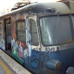 Example of the trains and metros that circulate in Rome