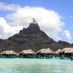 Mount Otemanu and Overwater Thalasso Villas