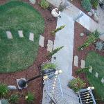 The view of the front garden from above