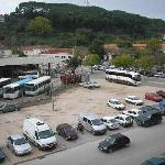 Hotel Residencial Trovador: The Tomar bus station.