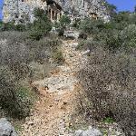 Climb to the rock tombs