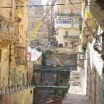 One of the many narrow streets of Valletta