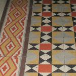 One of many patterned tile floors