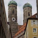 The twin Onion dome towers of Die Frauenkirche