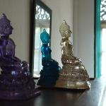 The glass Buddhas... beautiful aren't they?