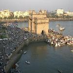 The Gateway of India. View from 6th floor The Taj Mahl Palace