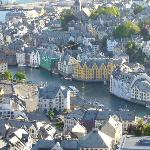 Close in of Alesund