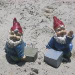 Gnomes at Port Aransas Beach