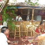 The garden bar area