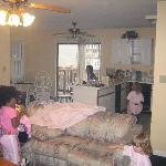This is a picture of the diningroom & kitchen. My grandchildren did not want to leave.