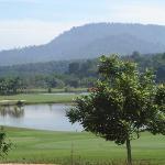 Vue partielle du golf