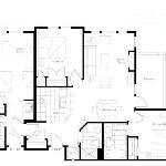 Floorplan of a 3 bedroom unit (2bd + studio lockoff)