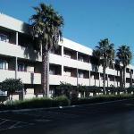 Rear of hotel, lots of parking