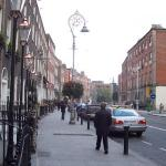 View up Harcourt Street from right outside the door.