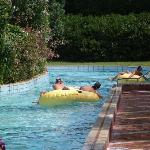 Part of the lazy river complex