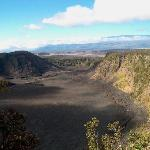 Kilauea Iki crater with Mauna Loa in the background - just a few minutes away.