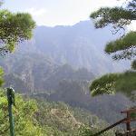 A view inside the caldera