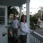 Rob and Dana on Balcony