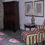 sitting area, TV armoir