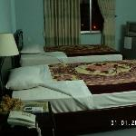 Truong Giang Hotel - twin beds and TV