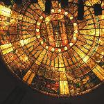 tiffany glass ceiling of theater